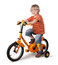 Stock Image : Portrait of a cute boy on bicycle