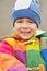 Stock Image : Portrait of cute happy little boy