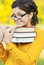 Stock Image : Portrait of girl with books