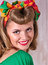 Stock Image : Portrait of pin up girl