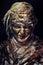 Stock Image : Portrait of scary mummy