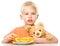 Stock Image :  Portret van een kleine jongen met zijn teddybeer