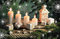 Stock Image : Postcard with candles and gifts