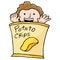 Stock Image : Potato Chip Kid