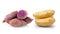 Stock Image : Potato and yam  on white background