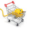 Stock Image : Power cable in the shopping cart