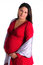 Stock Image : Pregnant woman in red dress