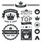 Stock Image : Premium Crown Badges & Vector Element Collection