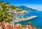 Postcard view of famous Amalfi Coast, Campania, Italy