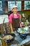 Stock Image : Pretty Asian chef