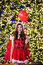 Stock Image : Pretty Asian girl in Santa costume for Christmas with night ligh
