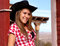 Stock Image : Pretty Cowgirl Model