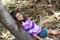 Stock Image : Pretty girl in nature