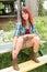Stock Image : Pretty Redhead Woman