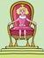 Stock Image : Princess girl on throne