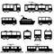 Stock Image : Public transportation icon set