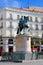 Stock Image : 卡洛斯雕象III在Puerta del Sol,马德里