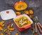Stock Image : Pumpkin soup