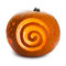 Stock Image : Pumpkin, with spirals like the dreamstime logo