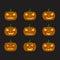 Stock Image : Pumpkins for Halloween set
