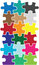 Stock Image : Puzzle color pieces