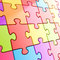 Stock Image : Puzzle jigsaw background made of coloful pieces