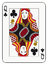 Stock Image : Queen of clubs