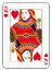 Stock Image : Queen of hearts