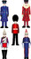 Stock Image : Queens Royal Guard vector illustrations