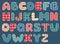 Stock Image : Quilt alphabet.
