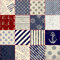 Stock Image : Quilting design in nautical style
