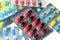 Stock Image : Różnorodna pigułki kapsuła