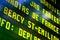 Stock Image : Railway information panel