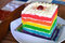 Stock Image : Rainbow Cake
