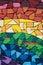 Stock Image : Rainbow graffiti Montreal