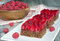 Stock Image : Raspberry chocolate pie with nuts