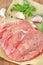 Stock Image : Raw pork with garlic
