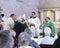 Stock Image : Receiving the Parishioners