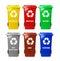Stock Image : Recycle bins