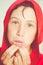 Stock Image : Red bathrobe