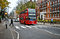 Stock Image : Red bus on Abbey Road