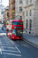 Stock Image : Red bus on the London street