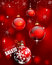 Stock Image : Red christmas background