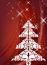 Stock Image : Red christmas design with tree