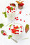 Stock Image : Red currant yoghurt