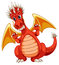 Stock Image : Red dragon