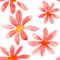 Stock Image : Red flowers seamless pattern