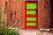 Stock Image : Red and Green Door