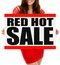 Stock Image : Red Hot Sale