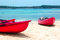 Stock Image : Kayaks on the beach